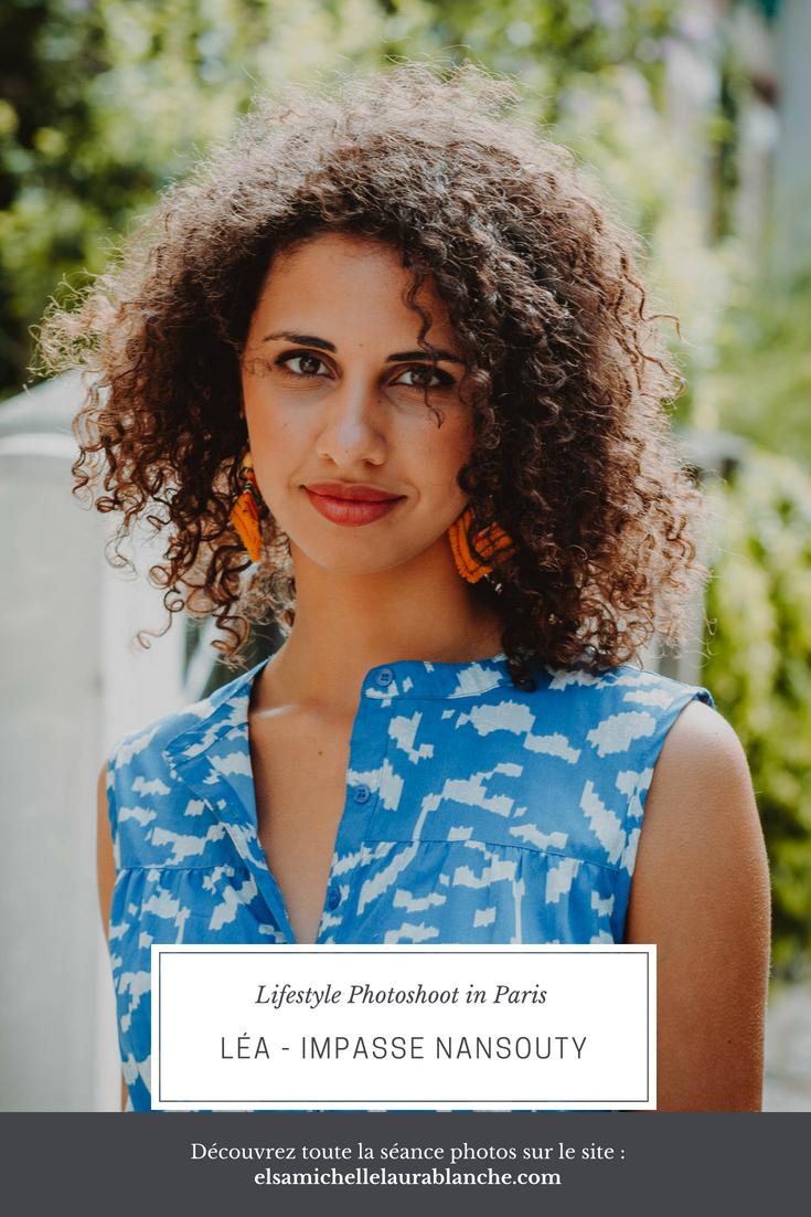 Elsa Couteiller Photographie - elsamichellelaurablanche.com - séance photos lifestyle - Paris - 14ème arrondissement - Impasse Nansouty - Léa - Pinterest